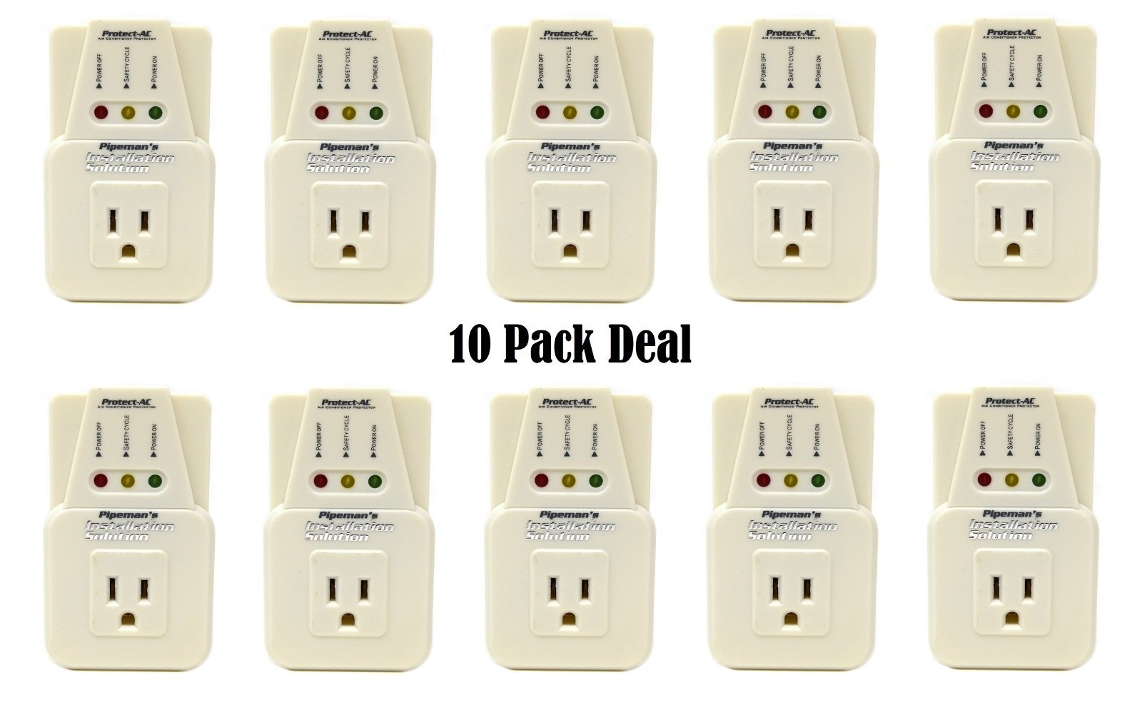 10 Pack Air Conditioner 3600 Watts 2 HP Surge Brownout Voltage Freezer Protector