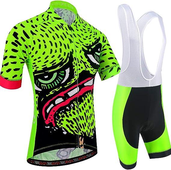 BXIO Ropa de Ciclismo de Dibujos Animados Camisetas Cortas para Hombre 5D Gel Pad Culotte Corto con Babero MTB de Secado rápido Ropa de Ciclismo 210: Amazon.es: Deportes y aire libre