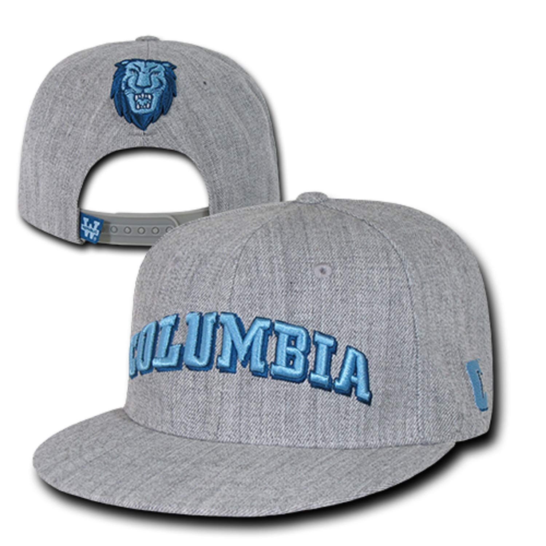d3f3c0fcafd Columbia University Lions NCAA Flat Bill Heather Gray Snapback Baseball Cap  Hat at Amazon Men s Clothing store