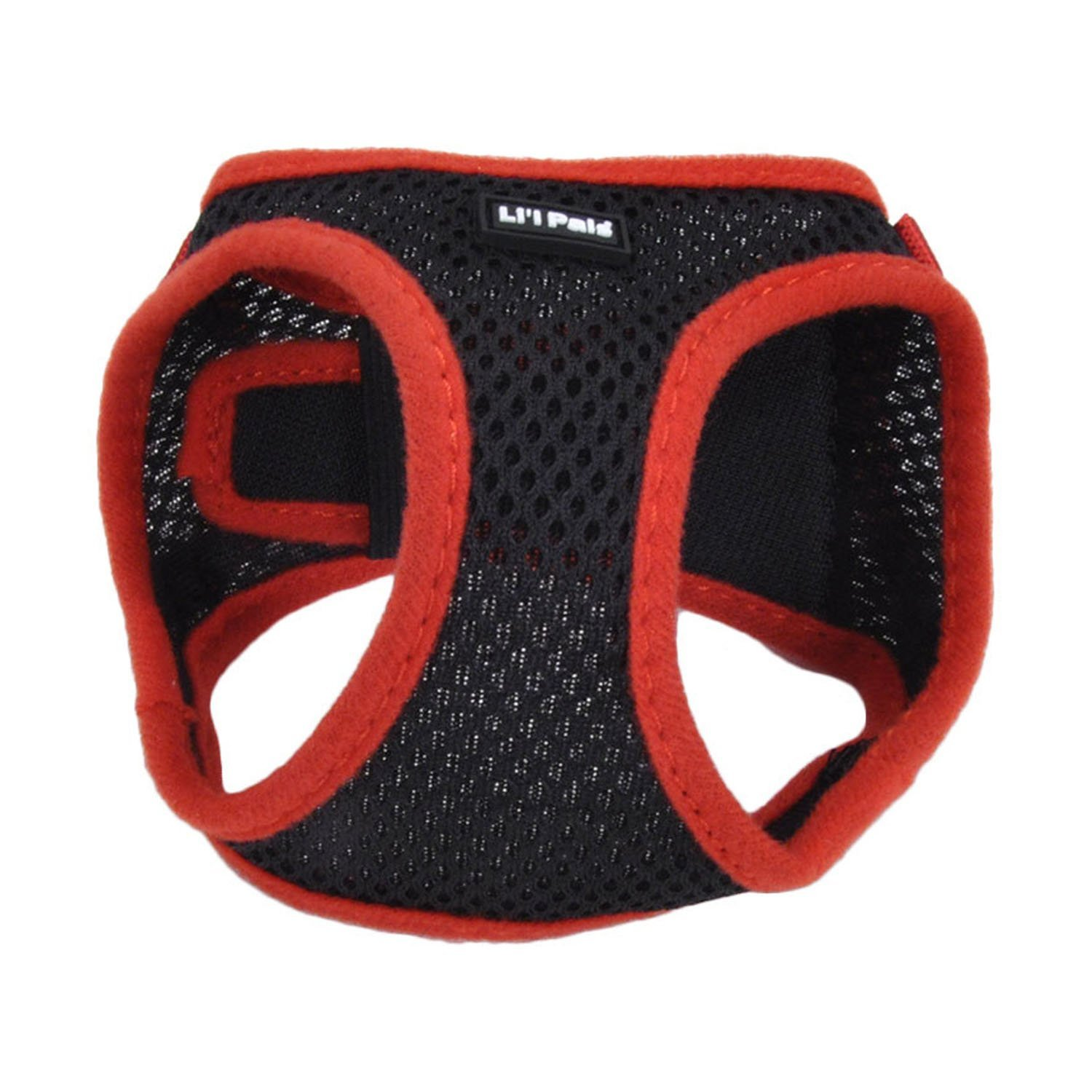 Lil Pals Mesh Comfort Mesh Adjustable Step-in Dog Harness for Puppies and Toy Breeds (Black, Extra Small)