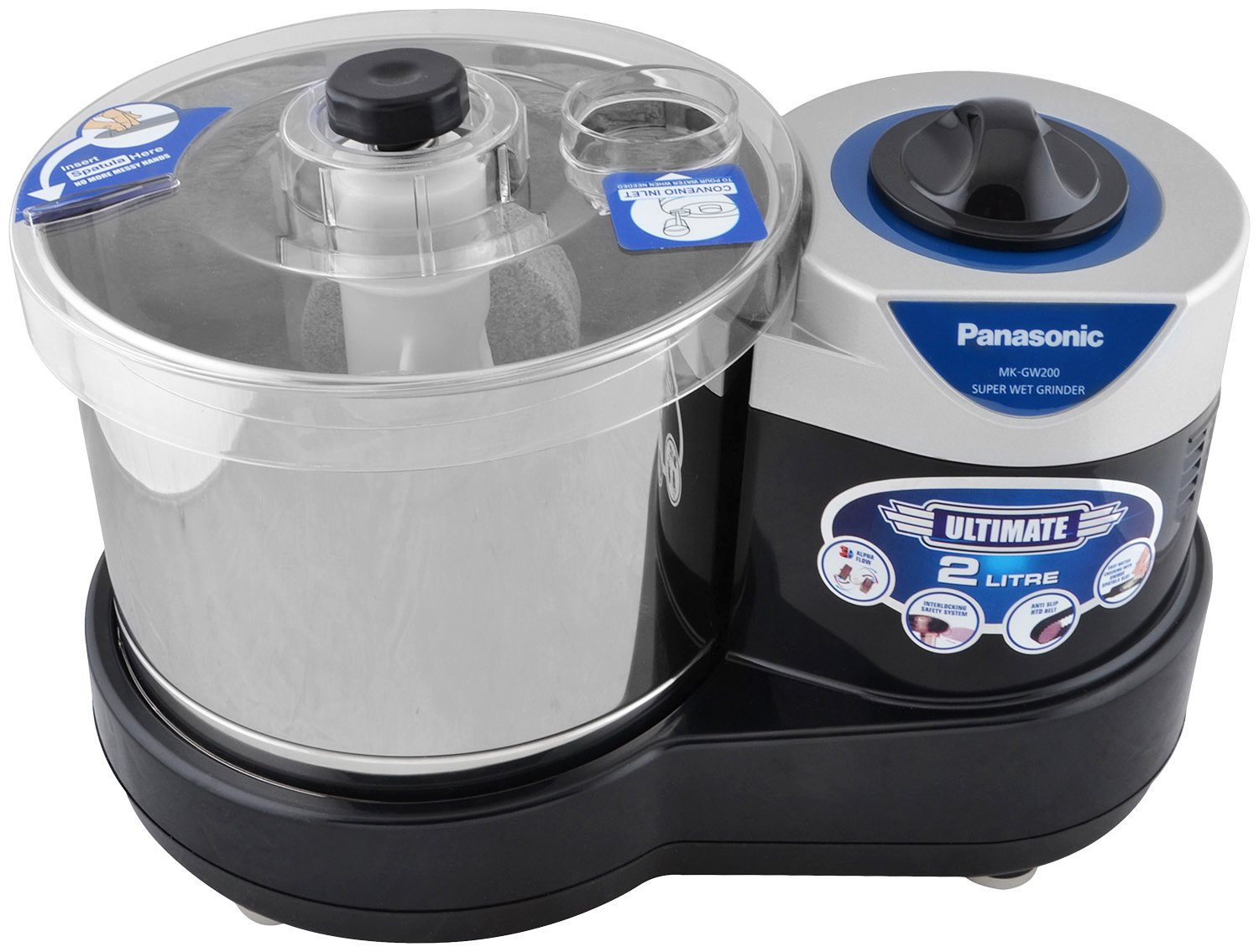 Panasonic MK-GW200 Super Wet Grinder, Black
