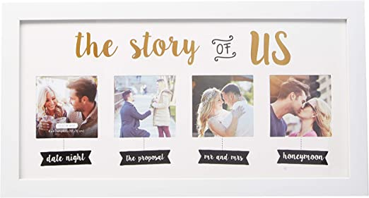 Mr /& Mrs Amore Heart Frame Wedding Gift Collage Memories PHOTO Picture