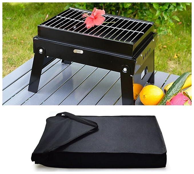 HomJo Barbacoa grill Portable plegable piernas una parrilla ...