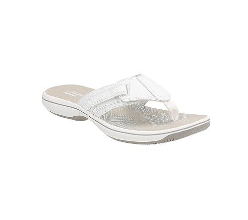 ea5aebdd39a Clarks Women s Brinkley JoJo H Thong Sandals White 12 B(M) US  Buy ...