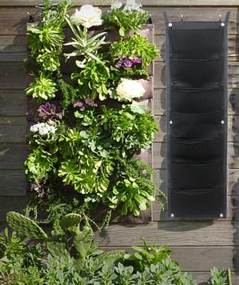 7 Sumnacon lot de 7 Sacs /à Plantes Vertical- Poche Robuste en feutre /épais pour Culture et Suspendre dans le jardin de la Famille de l/'Ecole etc. Sac Jardini/ère