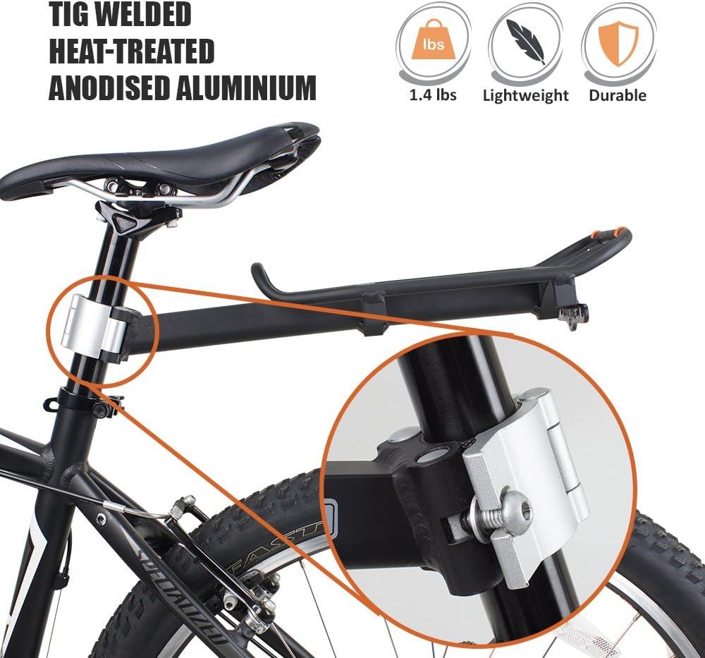 Ibera PakRak Mini de liberaci/ón r/ápida Bicicleta alforja para Bicicleta y Seat-Post de cercan/ías de Combo
