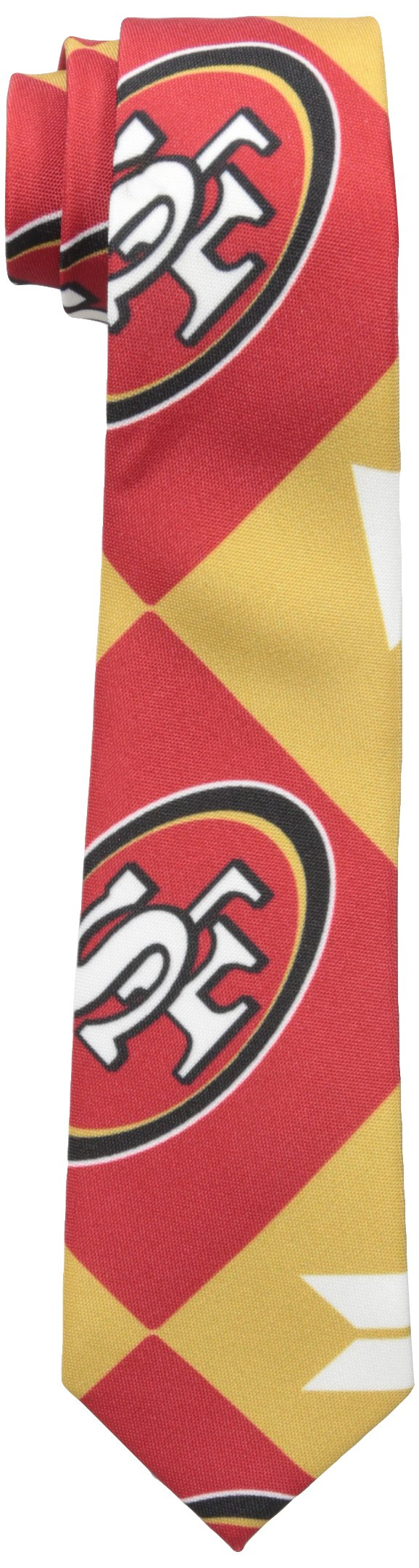 FOCO San Francisco 49ers Patches Ugly Printed Tie - Mens