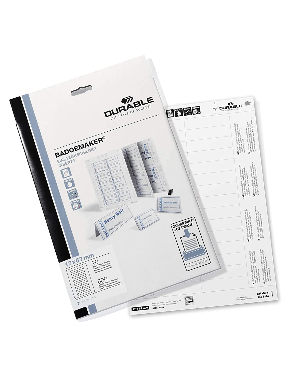 Amazon.com: Durable 146102 Badgemaker - Hojas de ...