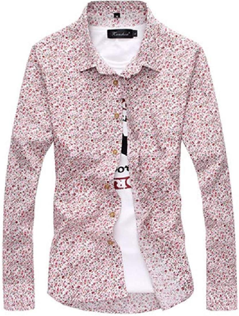 YUNY Mens Single Breasted No-Iron Casual Shirts Stylish Dress Shirt AS7 L