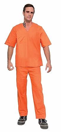 Forum Novelties Adult Orange Prisoner Halloween Costume  sc 1 st  Amazon.com & Amazon.com: Forum Novelties Adult Orange Prisoner Halloween Costume ...