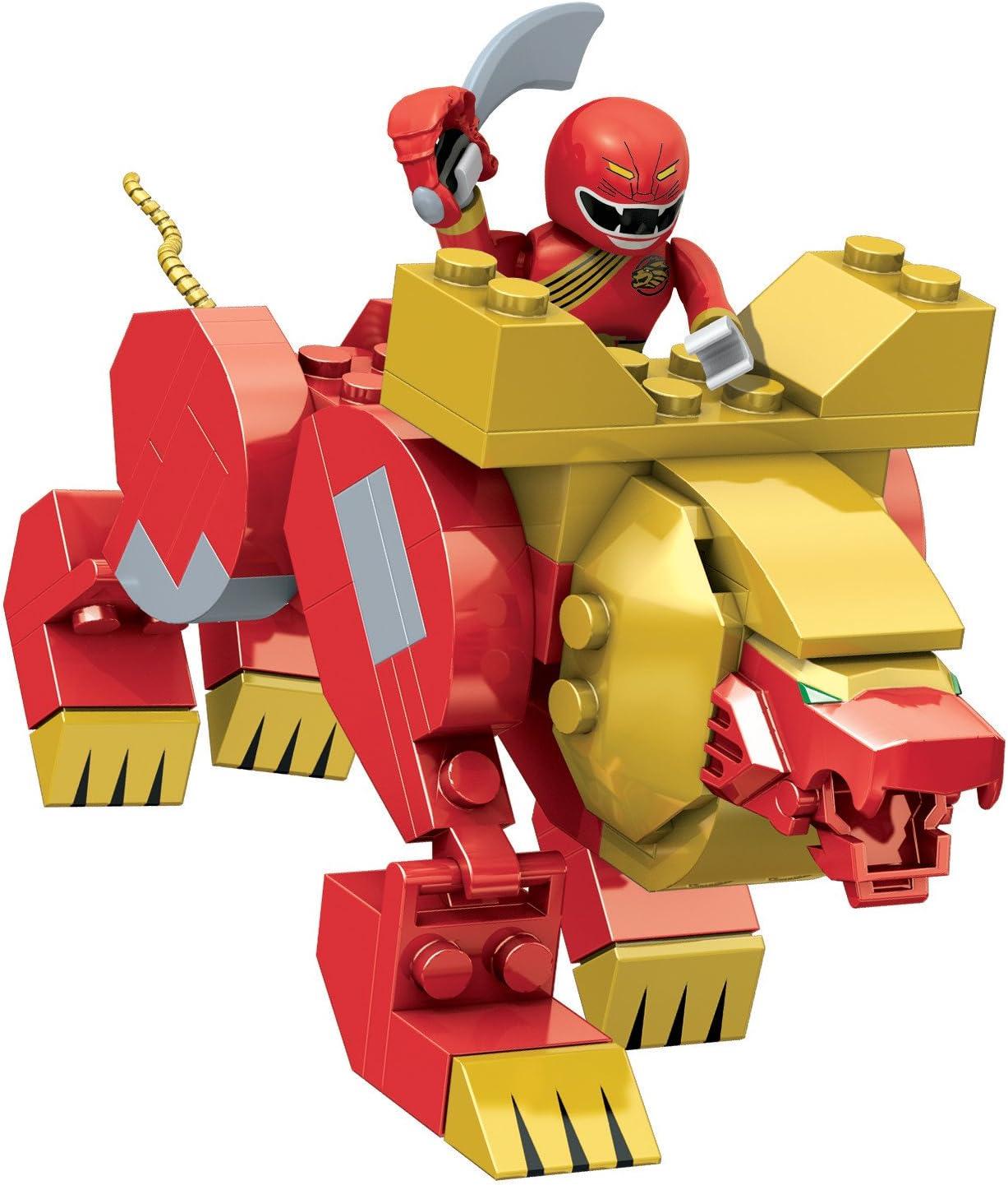 Amazon.com: Mega Bloks Power Rangers León Rojo Zord: Toys ...