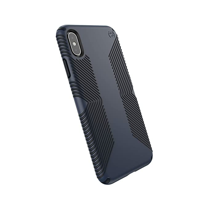 buy online acfcc a1359 Speck Products Compatible Phone Case for Apple iPhone Xs Max/Presidio Grip  Case, Eclipse Blue/Carbon Black