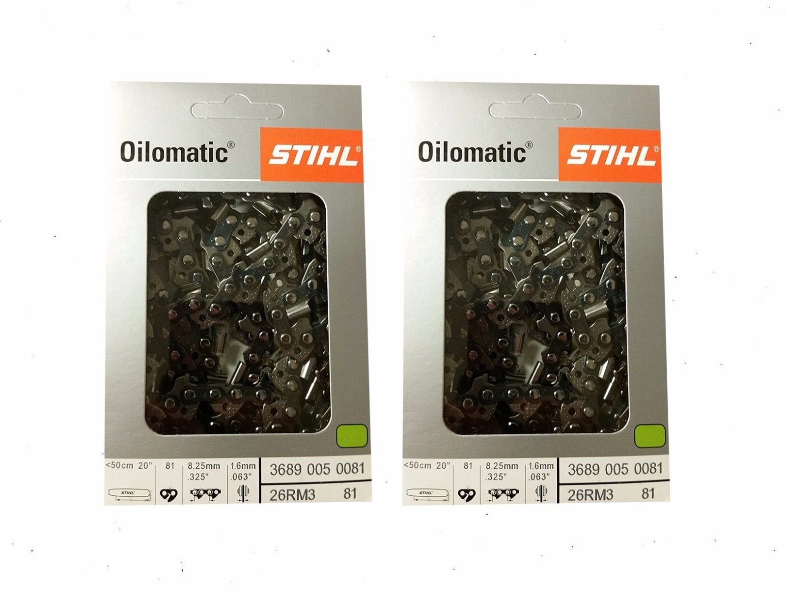 STIHL 26RM3-81 Oilomatic Rapid Micro 3 Saw Chain, 20'' - 2 Pack by Stihl