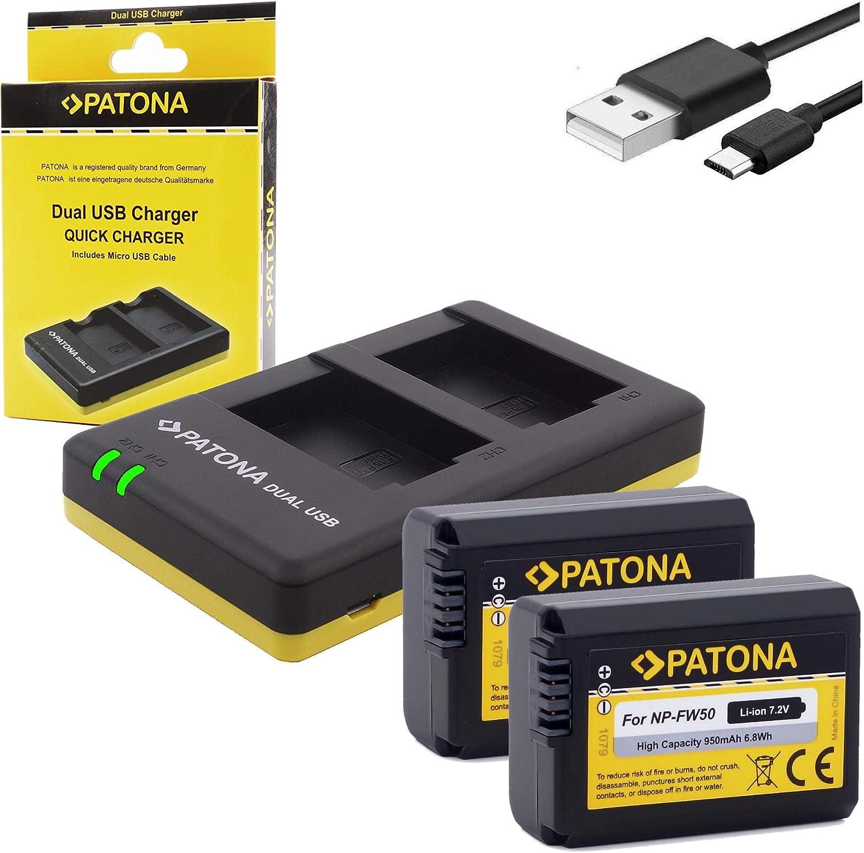 Patona Akku 2x Ersatz Für Sony Np Fw50 Mit Patona Kamera