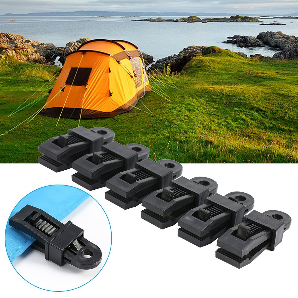 Outdoor tent canopy clip awning windproof fixed buckle Clip multifunctional wind rope buckle tent clip large Instant Clip Tent Accessories for Outdoor Activities ysister 10 Pcs Tarp Clips