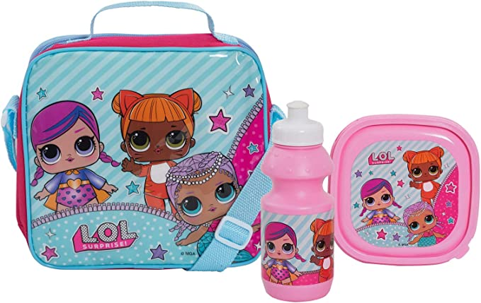 LOL Surprise! Dolls Girls School Lunch Bag Set 3 Pcs - Bolsa con ...