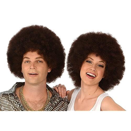 Kangaroo Costume Wigs; Brown Afro Wig; Unisex Afro