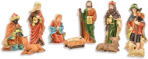 Mehrfarbig Riffelmacher 78300 Figuren f/ür die Weihnachtskrippe Krippenfiguren-Weihnachten und Dekoration 12 St/ück