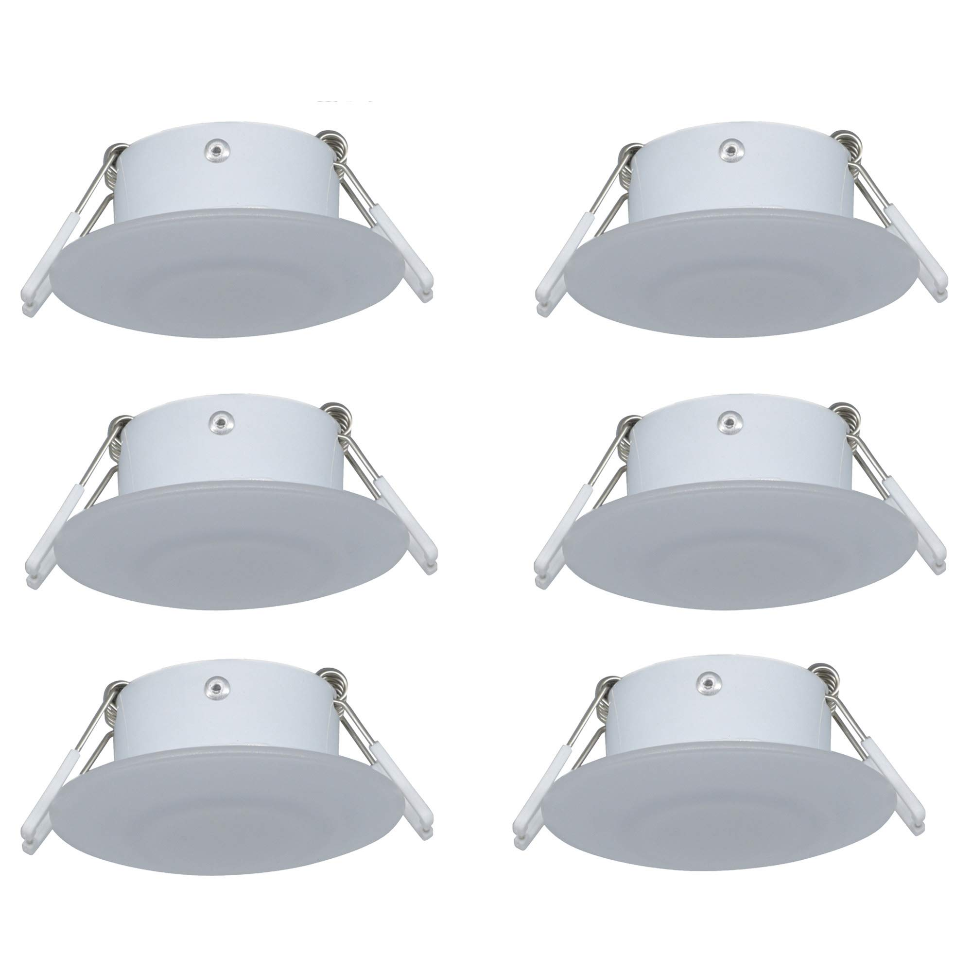 Facon 3Inch LED RV Puck Light Full Aluminum Recessed Mount Down Light 12V 3W 210Lumens by Facon