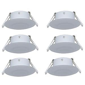 Facon 3Inch LED RV Puck Light Full Aluminum Recessed Mount Down Light 12V 3W 210Lumens