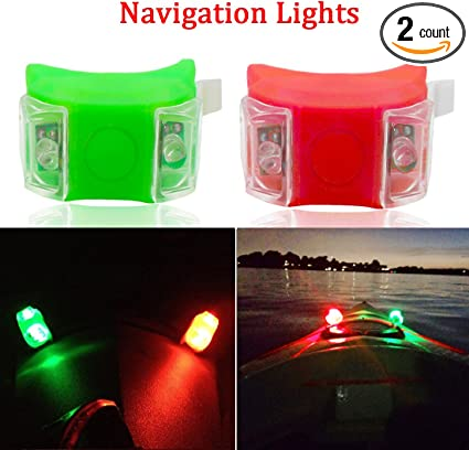 Stainless Housing Red and Green New Great A Pair Bow Navigation Light For Boats