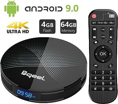 Android 9.0 TV Box 4GB RAM 64GB ROM, Bqeel U1 Pro Android Box RK3318 Quad-Core 64bits Dual-WiFi 2.4G/5.0G, 3D Ultra HD 4K H.265 USB 3.0 BT 4.0 Smart TV Box: Amazon.es: Electrónica