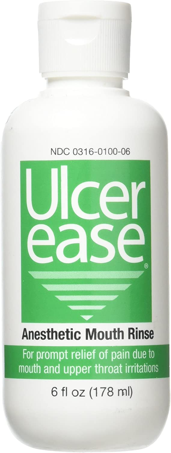 Ulcer Ease Anesthetic Mouth Rinse, 6 oz Bottle: Health & Personal Care