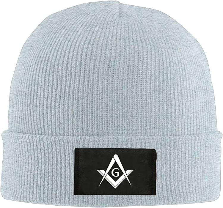 eecef301c95 HMCOOL Freemason Logo Square And Compass 1 - Adult Knit Cap Beanies Cap  Winter Warm Hat
