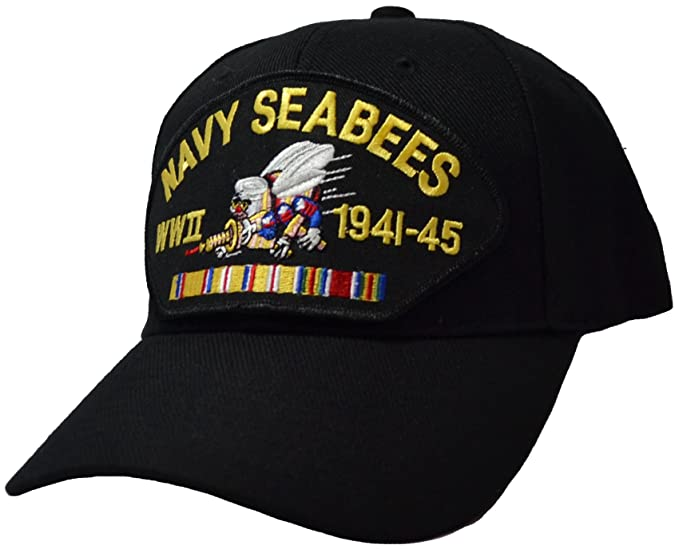 us navy seabees wwii veteran cap at amazon men s clothing store