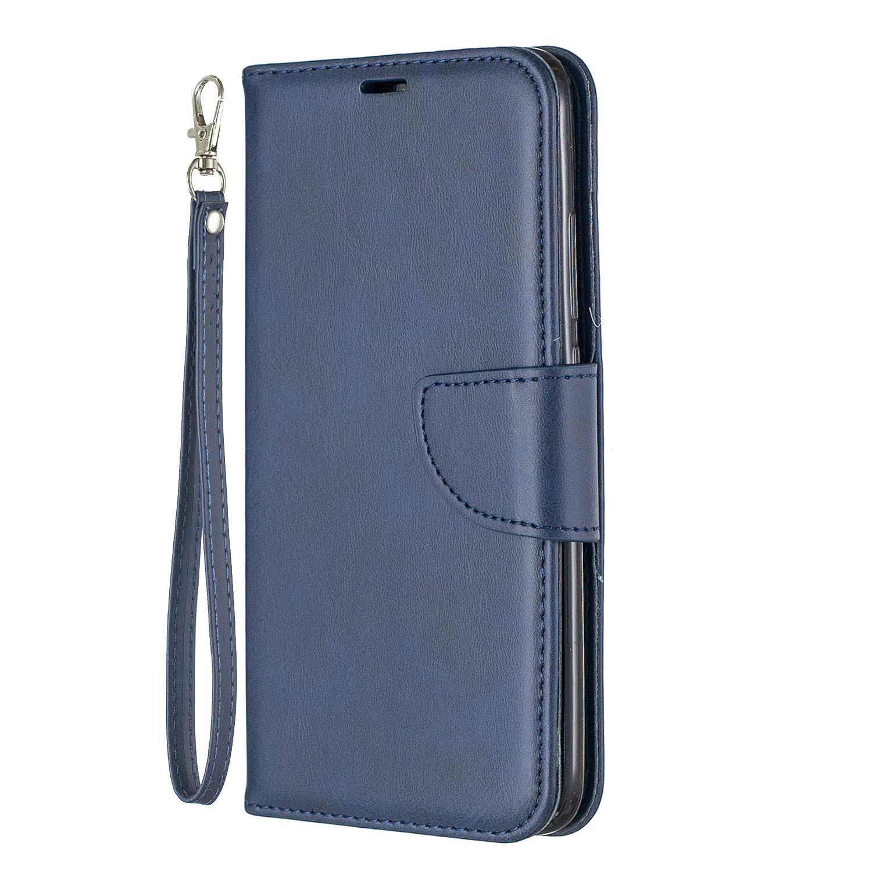 Lomogo Xiaomi Redmi 7 / Y3 Case Leather Wallet Case with Kickstand Card Holder Shockproof Flip Case Cover for Xiaomi Redmi7 / Redmi Y3 - LOBFE150647 Blue