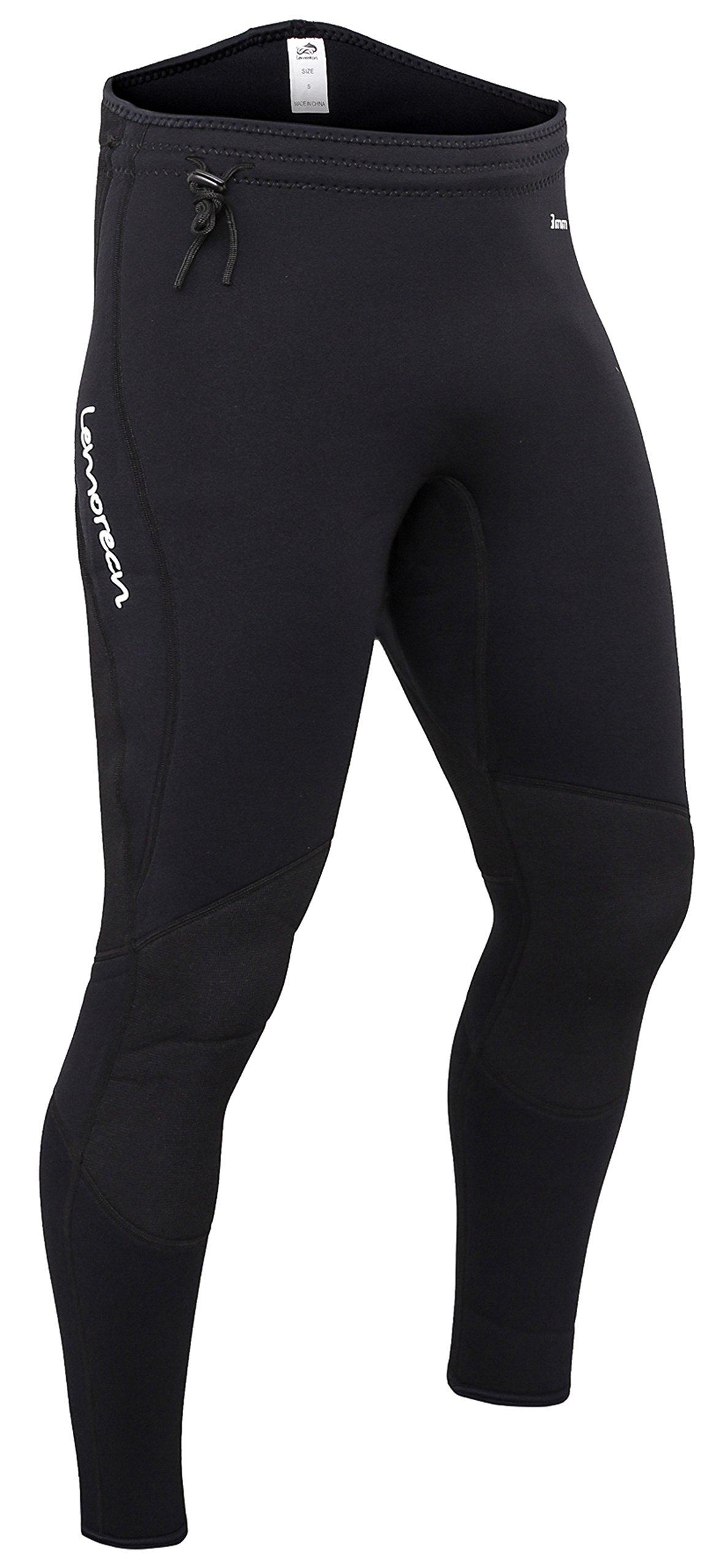 Lemorecn Wetsuits Pants 3mm Neoprene Winter Swimming Canoeing Pants(1031M) by Lemorecn