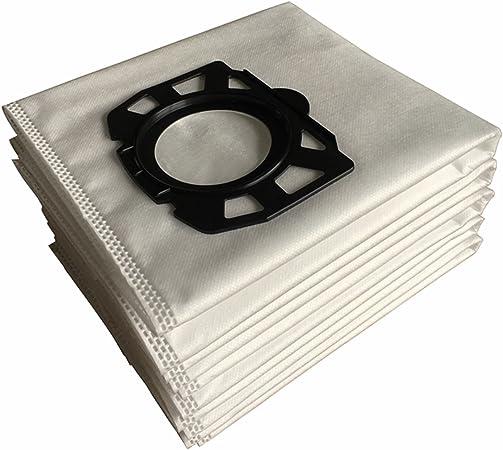 Clean Fairy Paquete de 10 bolsas de filtro de polar de repuesto compatibles con Karcher WD4