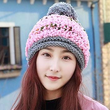 YXLMZ Onorevoli donne Cappelli Cappello maglia berretto da sci Auricolare  rosa f7f8251d2f8f