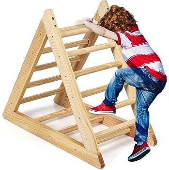 Costzon Kids Wooden Indoor Playful Climbing Toy