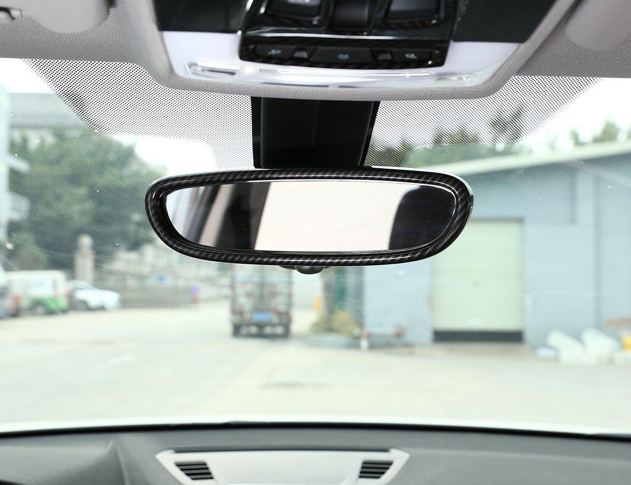 Marco de espejo retrovisor de carbono ABS para decoració n interior, accesorios de pegatina para X1 F48 2016-2018 1 Series F20 2011-2015 Luxuqo