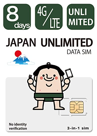 Amazon.com: Docomo Japan Prepaid SIM(Data SIM) Unlimited ...
