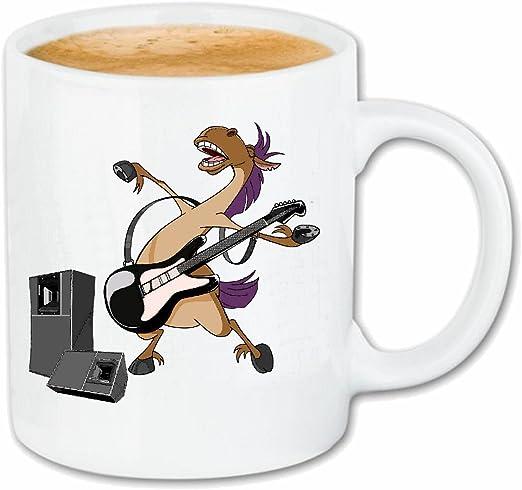 taza para café CABALLO CON LA GUITARRA JAZZ E TECHNO TRANCE DJ ...