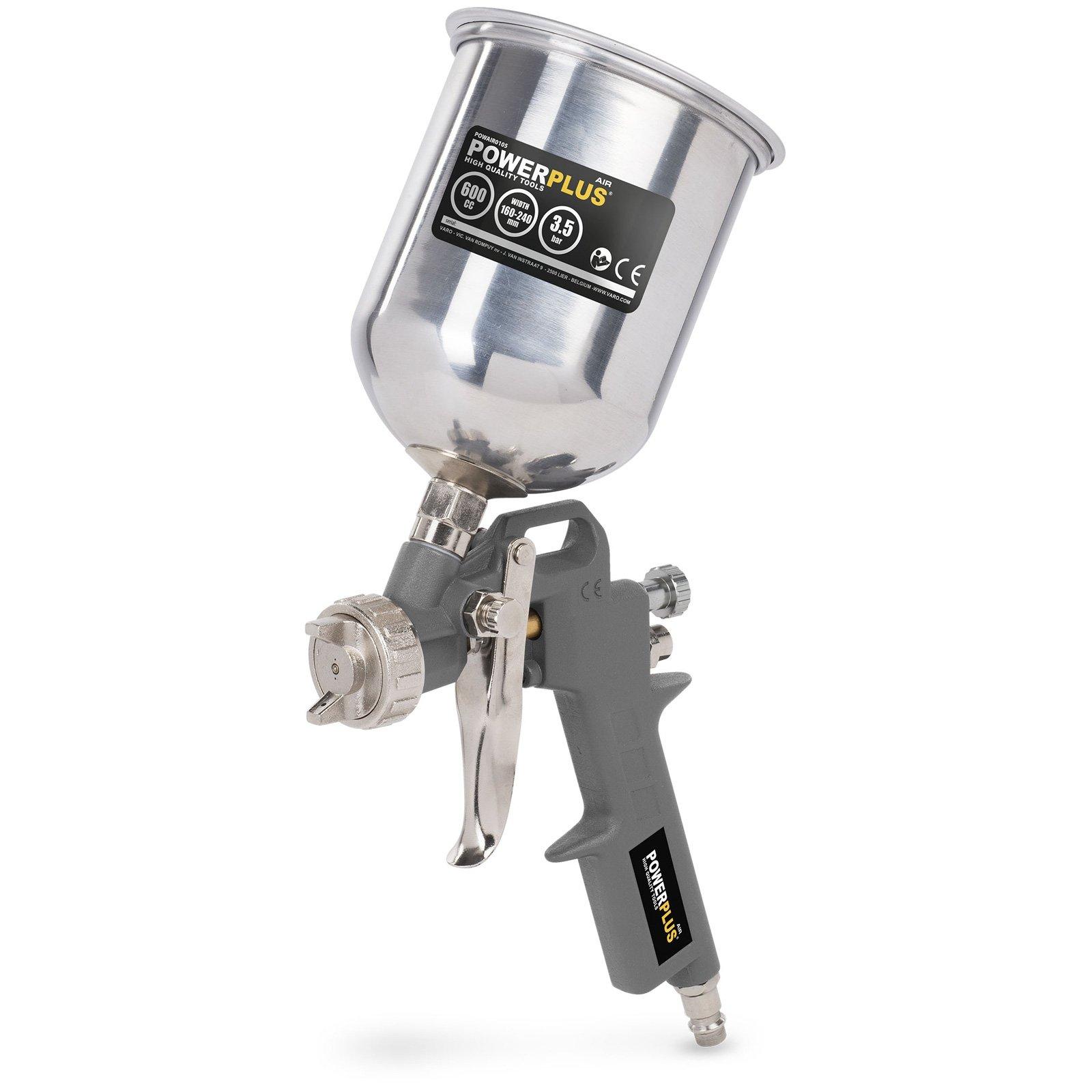 pistolet pulvérisateur haute pression fourniture de couleur par gravité - pistolet de pulverisation godet haut 400cc - POWAIR0105 product image