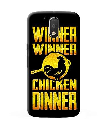 Casekaro PUBG Winner Winner Chicken Dinner Text Printed Cover For Moto  G4/G4 Plus |