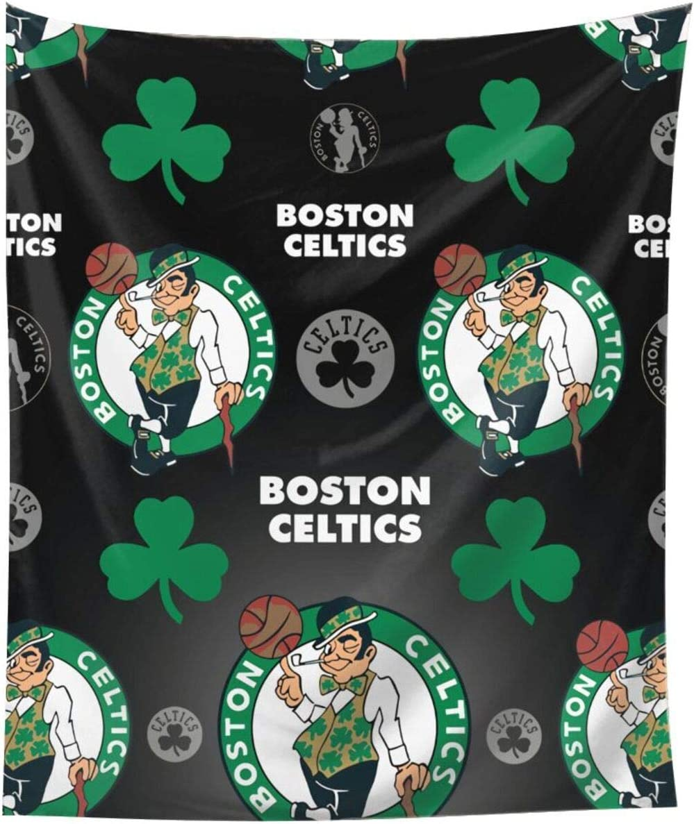 JINfjapafg Tapestry Boston Basketball Cel-tics Wall Hanging, Wall Tapestry with Art Home Decorations for Living Room Bedroom Dorm Decor in 6051inch