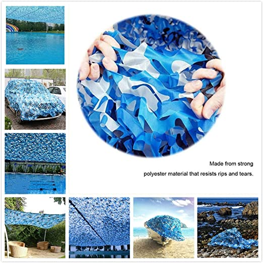 Red de Camuflaje Vela Solar Ejército Azul Malla de Camuflaje ...