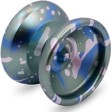 Sidekick Yoyo Pro Green Blue Silver Splashes Professional Aluminum UNresponsive 7S YoYo