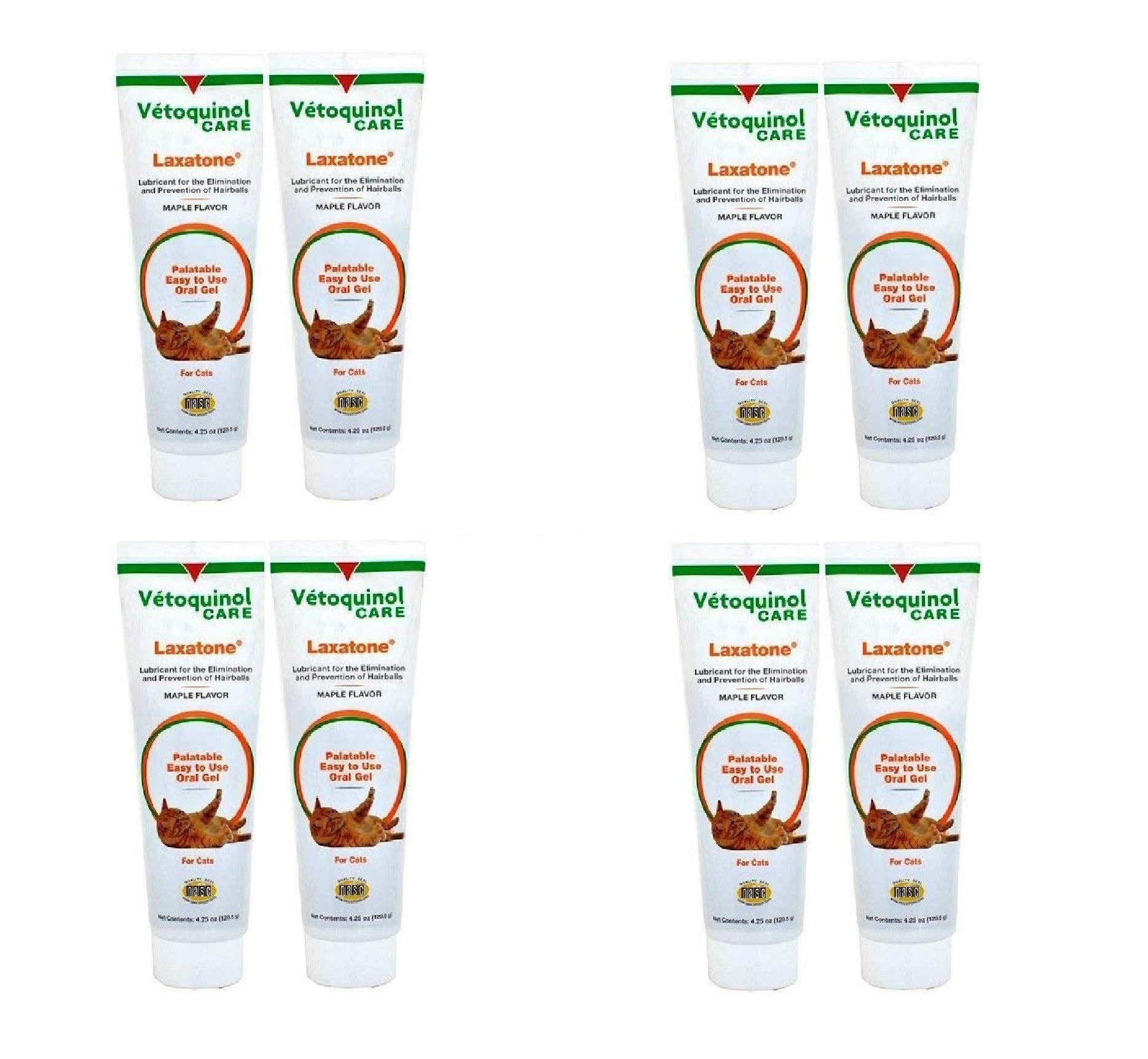 Vetoquinol Laxatone Maple 4.2 oz, 2 Count (4 Pack) by Vetoquinol