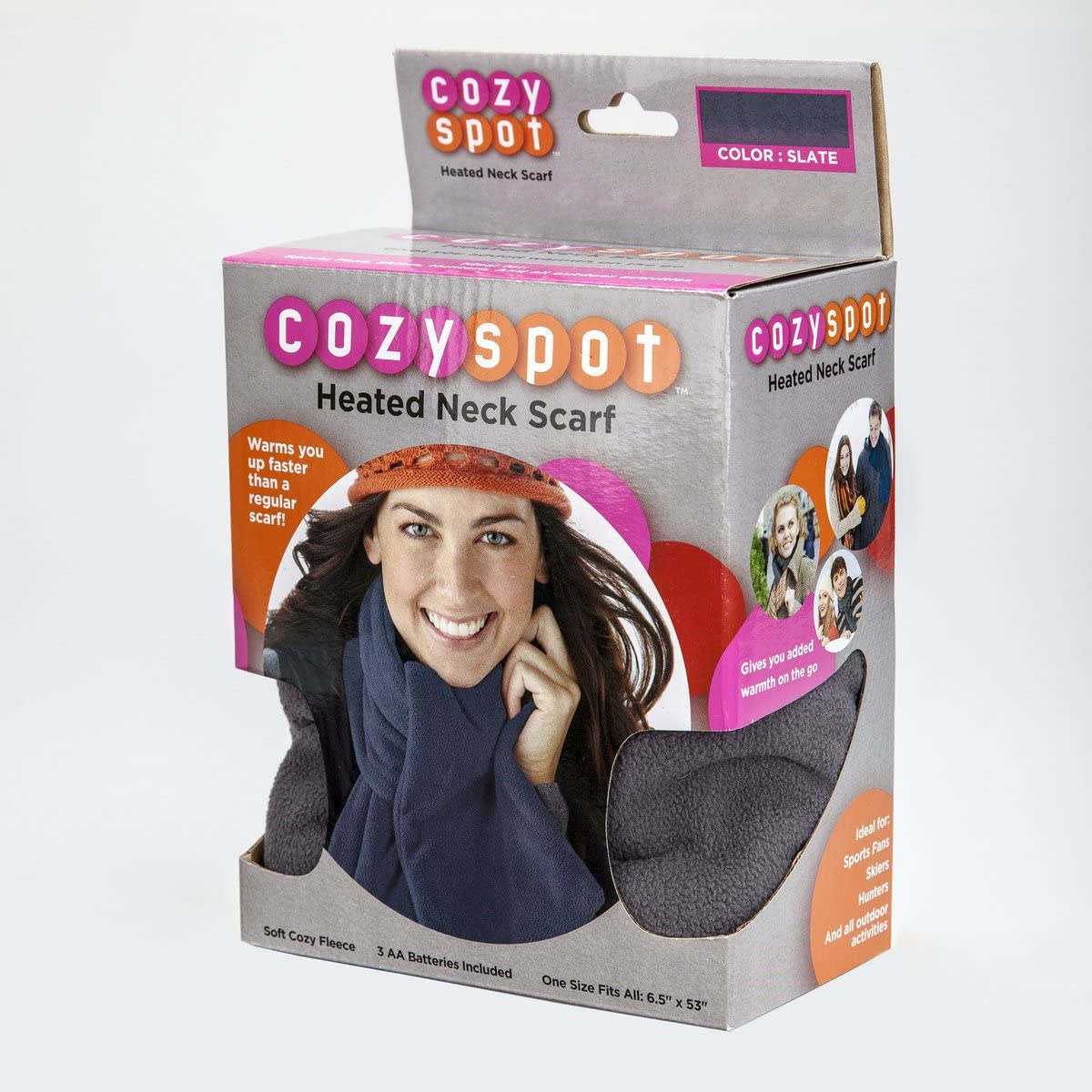 Sunbeam Cozy Spot Heated Scarf Slate