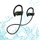 Bluetooth Headphones, Rotuyes Wireless Sports Headphones with Mic IPX7 Waterproof HD Stereo Sweatproof In-Ear Ear Buds Noise Cancelling Headsets for iPhone X/8/7/7 Plus/6s and Android Cell Phones