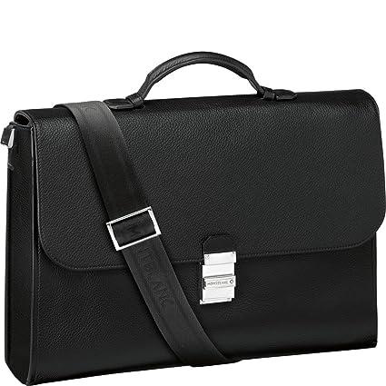 93ab4407b8 Montblanc Briefcase, black (black) - 114451: Mont Blanc: Amazon.co.uk:  Luggage