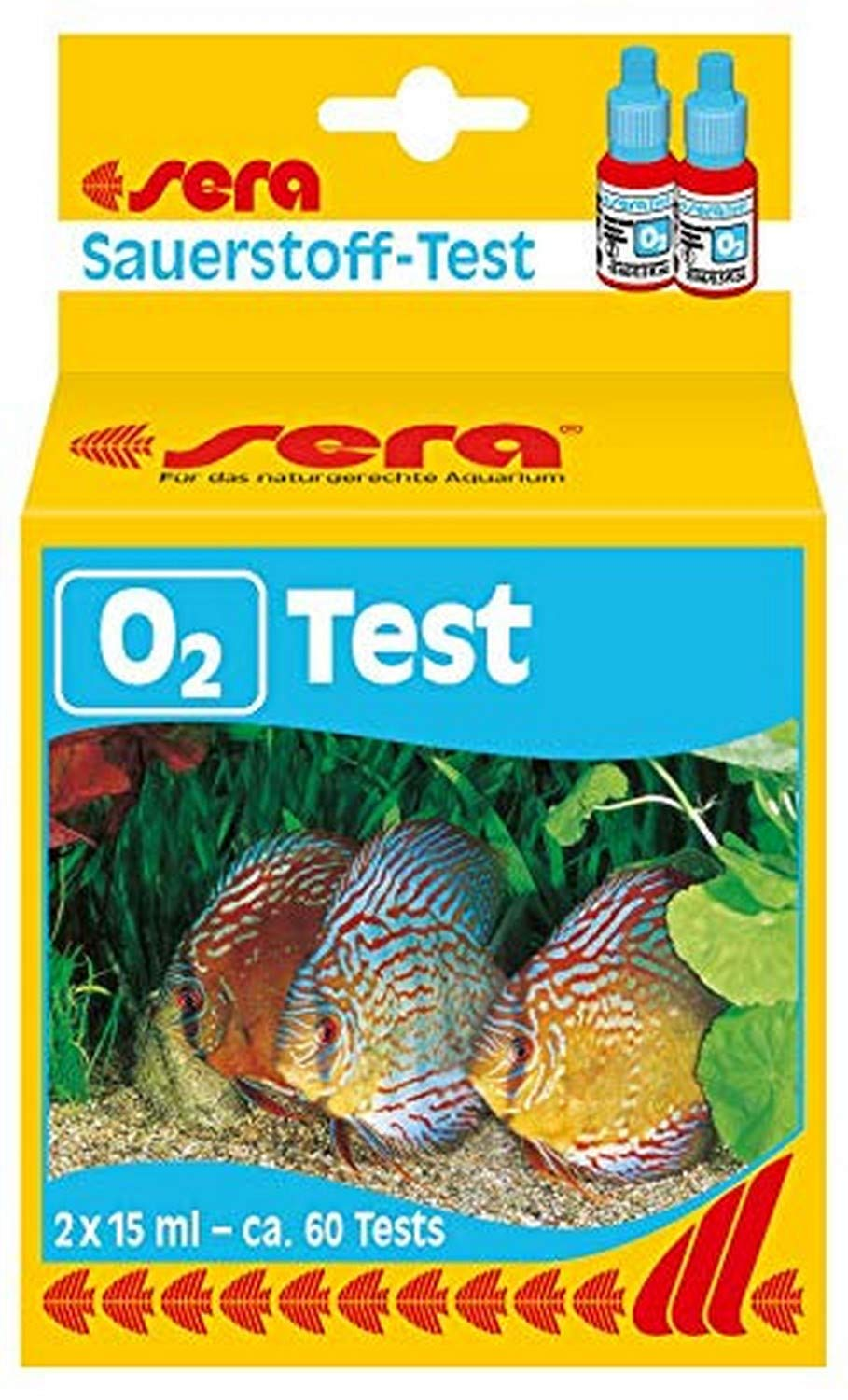 Sera Oxygen-Test (O2) 15 ml, 0.5 fl.oz. Aquarium