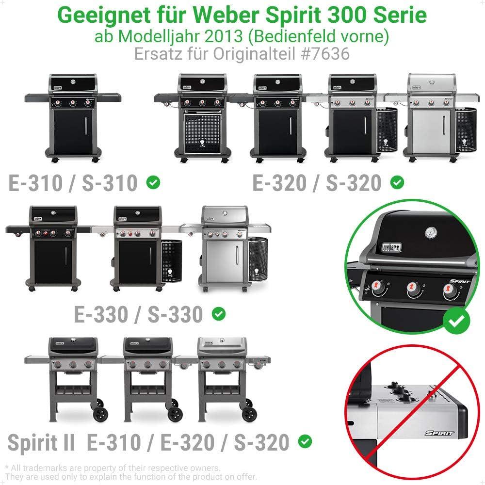 passend f/ür Weber Spirit E310//E320//E330//S310//S320//S330 ab 2013 und Spirit II E310//E320 5 St/ück ecooe V2A Edelstahl Aromaschienen Flavorizer Bars f/ür Weber Spirit 300 Series Ersatz f/ür Weber 7636
