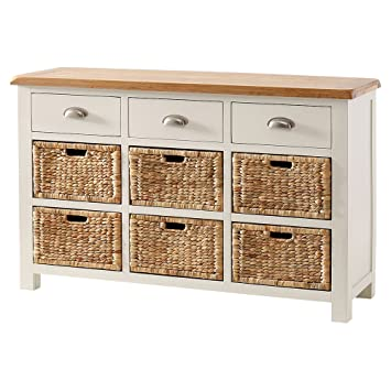 huge discount 5704e 48455 The Furniture Market Cotswold Cream Painted Large Basket ...