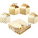 Paper Gift Boxes for Party Favors, Gold Foil (3.7 x 3.2 Inches, 36-Pack)